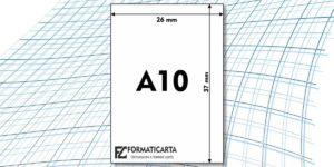 Dimensioni Foglio A10