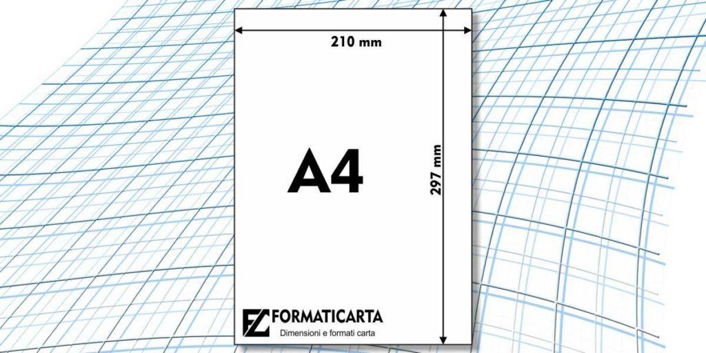 Dimensioni Foglio A4