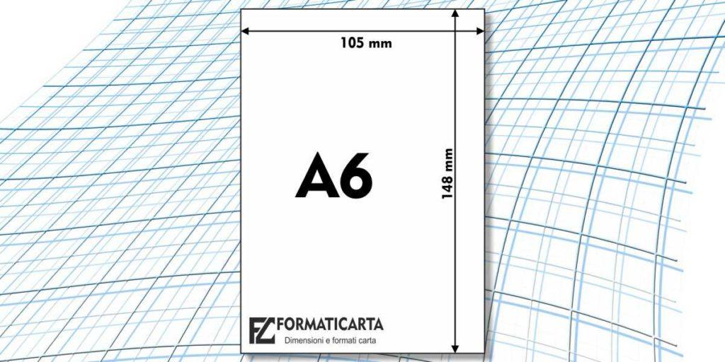 Dimensioni Foglio A6