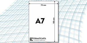 Dimensioni Foglio A7