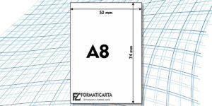 Dimensioni Foglio A8