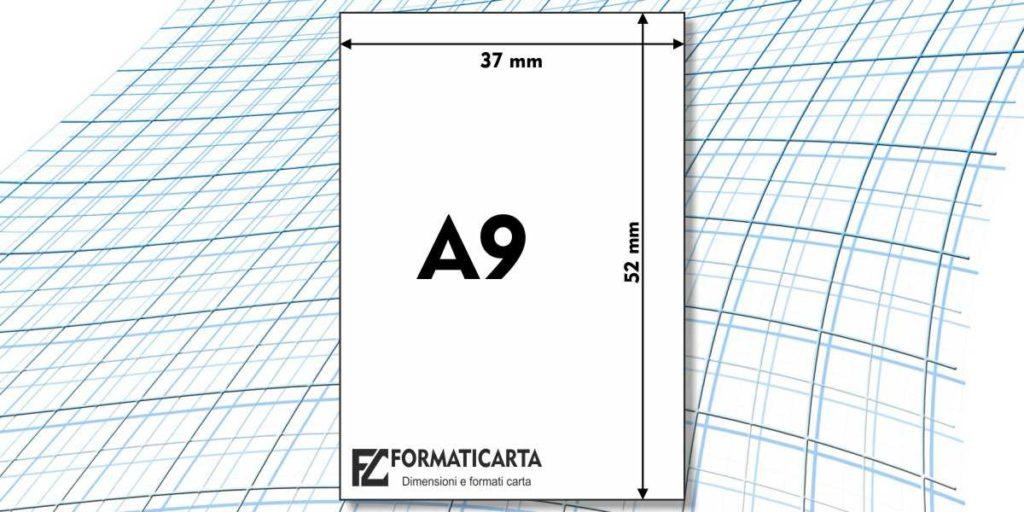 Dimensioni Foglio A9
