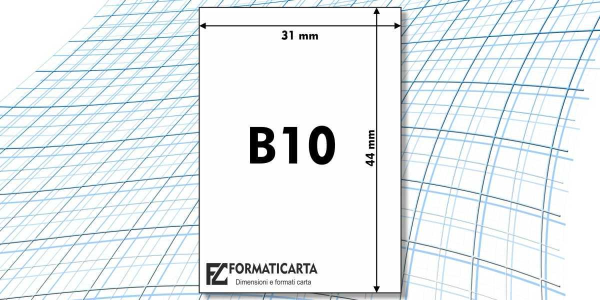 Dimensioni Foglio B10