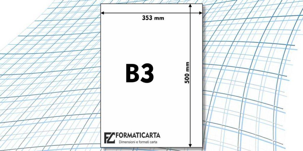 Dimensioni Foglio B3