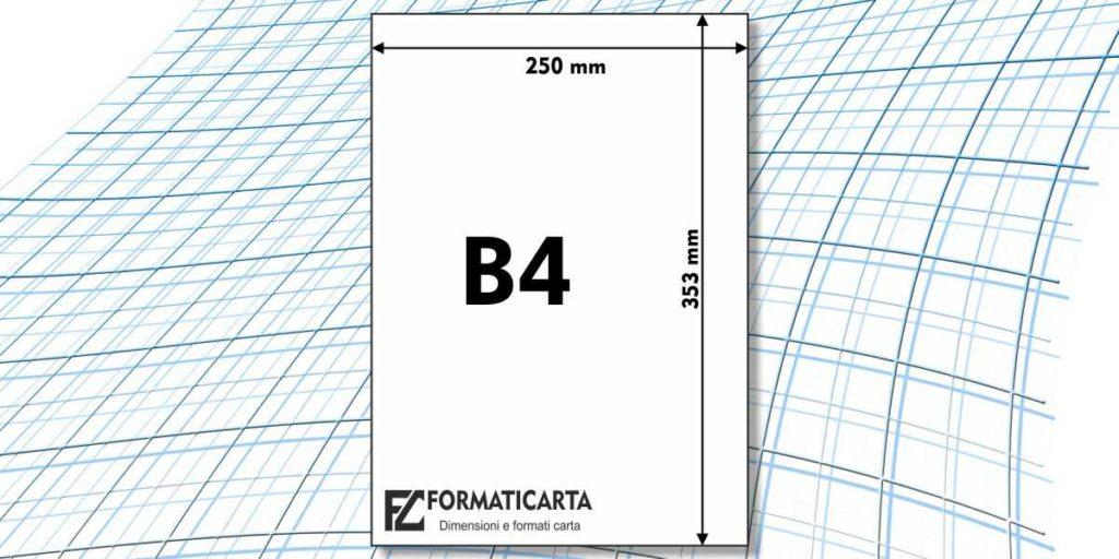 Dimensioni Foglio B4