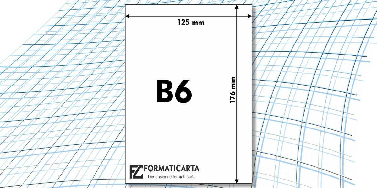 Dimensioni Foglio B6