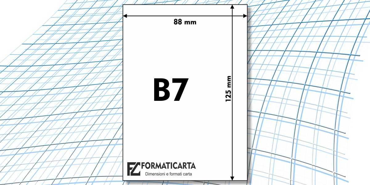 Dimensioni Foglio B7