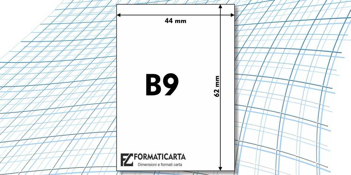 Dimensioni Foglio B9