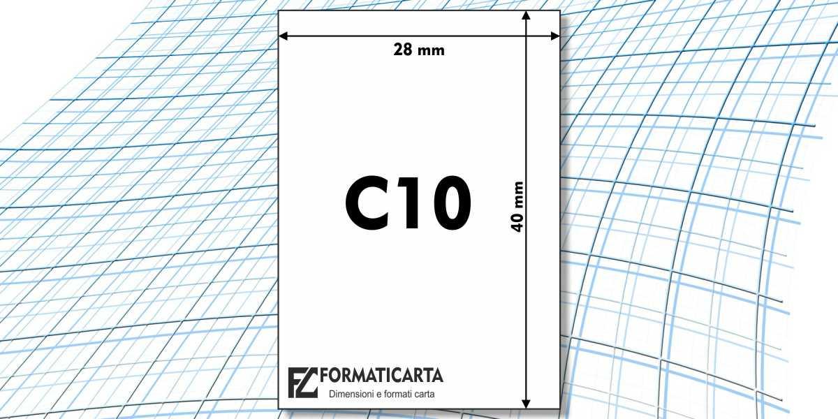 Dimensioni Foglio C10