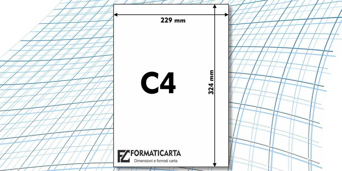 Dimensioni Foglio C4