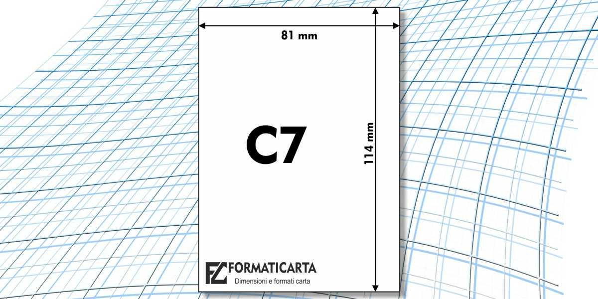 Dimensioni Foglio C7