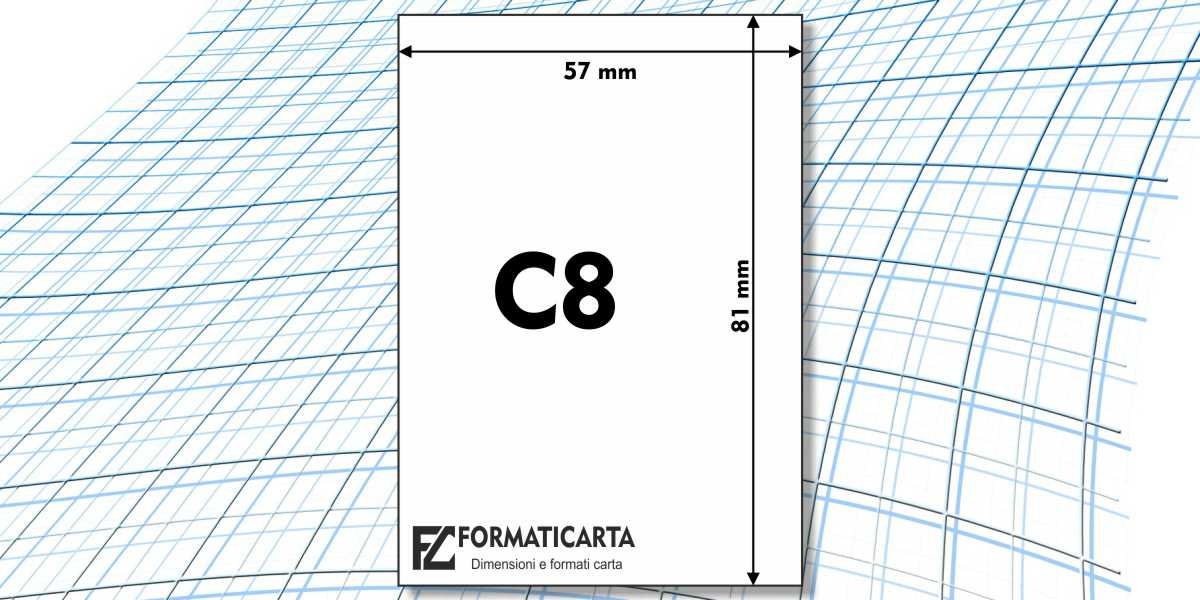 Dimensioni Foglio C8